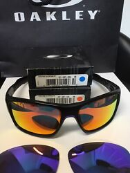 OAKLEY TURBINE SUNGLASSES WITH EXTRA OAKLEY LENSES RUBY RED amp; VIOLET BLUE $200.00