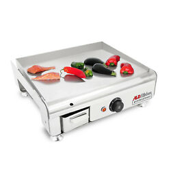 Flat Top Griddle | Teppanyaki Grill With Manual Control | 18.50 X 16.14 | 110v