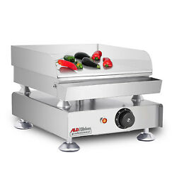 Flat Top Griddle | Teppanyaki Grill With Three Thermostats | 16.1 X 13.5| 110v