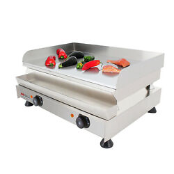 Flat Top Griddle | Teppanyaki Grill With Three Thermostats | 21.6x15.7 | 110v