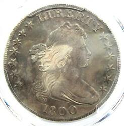 1800 Draped Bust Silver Dollar 1 - Certified Pcgs Vf Details - Rare Coin