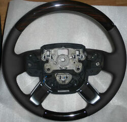 Range Rover L405 2013+ Espresso Leather And Macassar Wood Heated Steering Wheel