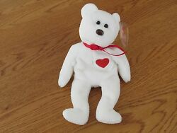 New Ty Beanie Baby - Valentino The Bear - 1994/1993 - Retired With Errors