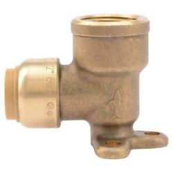 New Sharkbite 1/2 In. Push-to-connect X Fip Brass 90-degree Drop Ear Elbow Fitti