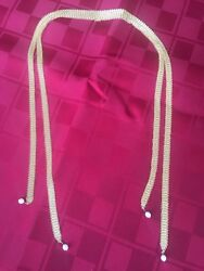 And Co 18k Gold Elsa Peretti Akoya Pearls Wrap Mesh Scarf Necklace Rare