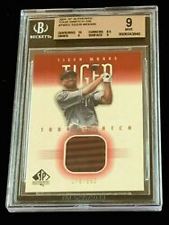 Tiger Woods 2001 Sp Authentic Twts Bgs 9 W 10 Rc Red Swatch 75/250 Psa Pop 15