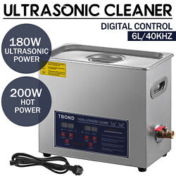 New 6l Ultrasonic Cleaner Stainless Steel Industry Heated Heater W/timer