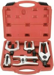 6pc Front End Service Tool Kit Ball Joint Separator Pitman Arm Tie Rod Puller Us