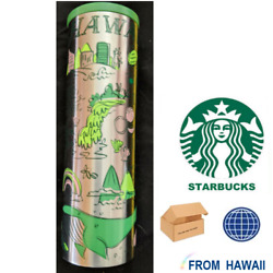 16oz Stainless Steel Tumbler Hawaii Been There Travel Thermos Starbucks Series