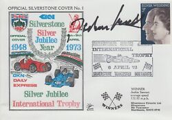 Jochen Mass Hand Signed Silverstone Silver Jubilee Year First Day Cover 1.