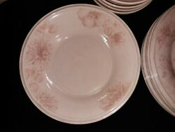 Lenox Dish Set, White Floral On Pink. Great Condition