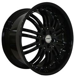 4 G22 Narsis 20 Inch Staggered Black Rims Fits Mercedes Glk350 2010 - 2015