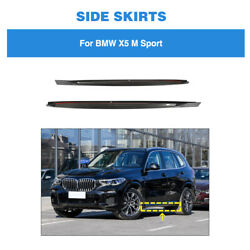 For Bmw X5 M Sport 2019up Side Skirts Extension Lip Spoiler Panel Carbon Fiber