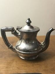 Hotel Chateau Pitcher Tea Pot Barth And Son Silver Soldered Nickel New York Aa163