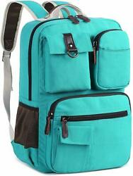 15quot; Laptop Computer Backpack Rucksack Business School Travel Women Bag Teal NEW $52.99