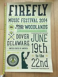 Firefly Music Festival Original Poster Mint 24x36 No Holes Thick Paperstock