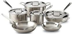 All-clad D5 Brushed Stainless Steel 10 Pc Cookware Set - Brand New Sealed