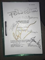 Signed Screenplay For Harry Potter And The Goblet Of Fire Authentic Collectors