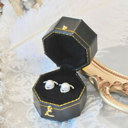 50x Vintage Octagonal Ceremony Wedding Ring Box Removable Cover Engagement Box
