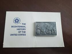 The Bicentenial History Of The United States 14 Pewter Ingot Franklin Mint