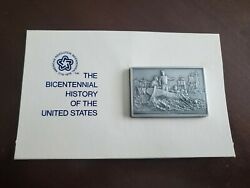 The Bicentenial History Of The United States 16 Pewter Ingot Franklin Mint