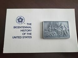 The Bicentenial History Of The United States 17 Pewter Ingot Franklin Mint