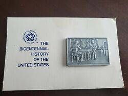 The Bicentenial History Of The United States 18 Pewter Ingot Franklin Mint