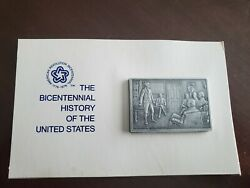 The Bicentenial History Of The United States 19 Pewter Ingot Franklin Mint