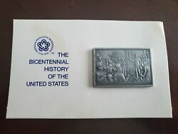 The Bicentenial History Of The United States 21 Pewter Ingot Franklin Mint