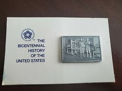 The Bicentenial History Of The United States 23 Pewter Ingot Franklin Mint