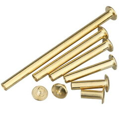 Album Purse Copper Plated Binding Chicago Screw Post Leather Rivets 6mm-100mm