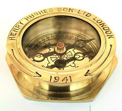 Vintage 1941 Theme Old London Navy Royal Compasses Marine Direction Compass