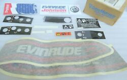 M19 New Omc Johnson Evinrude 285043 Decal Set Kit 25hp Se25rd Outboard Motor Oem