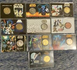Rare Star Wars Walt Disney World Passholder Weekend Gold Coins And Cases Lot Of 10