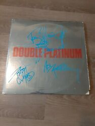 KISS AUTOGRAPHED SIGNED DOUBLE PLATINUM LP RECORD 4 SIGS. GENE PAUL ACE PETER