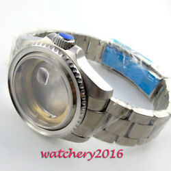 43mm Sapphire Glass Rotating Bezel Watch Case Fit Nh35/36 Movement Free Shipping