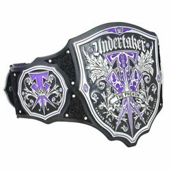 Undertaker The Phenom Champion Wrestling Belts Leather Replica Plates Adults
