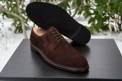 Mens Handmade Shoes Brown Suede Derby Lace Up Formal Wear Casual Dress Boots New