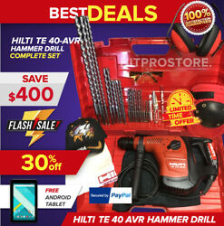 Hilti Te 40-avr Hammer Drill, Free Android Tablet, Bits, Fast Ship