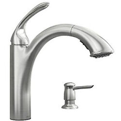 87035srs Kinzel Collection Pull-out Kitchen Faucet, Low-arc, Stainless Steel -