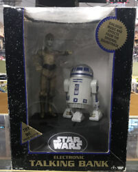 Vintage 1995 Star Wars Electronic Talking Bank R2d2 And C3po Sold As Is