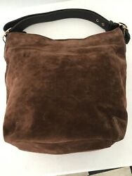 Vtg Coach Brown Suede Bucket Bag $85.00