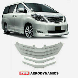 Frp Unpainted Mdt Style Fit For 08-11 Alphard 20 Series Ah20 Front Bumper Grill