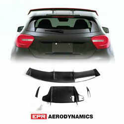 Carbon Glossy Va Style Fit For Benz W176 Roof Spoiler Rear Wing Kit