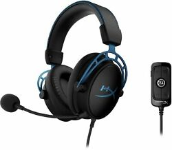 Hyperx- Cloud Alpha S Wired 7.1 Ss Gaming Headset For Pc W/ Chat Mixer- New Bb