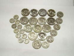 8-oz Us Silver Coins 1940and039s-1960and039s Half Dollars Quarters Dimes +bonus Availread