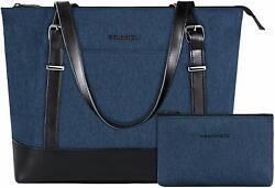 15quot; Business Laptop Tote Handbag Lightweight Travel Women Shoulder Bag Lake Blue $39.99
