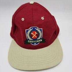 Craftsman Tools Hat Cap Advertising Collectible Maroon Strapback Adult Used M1