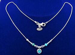 Old Vintage Jewish Israel Sterling Silver 925 Necklace Turquoise Jewelry Women's