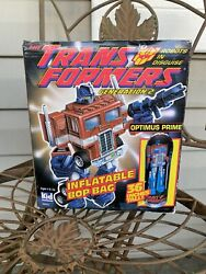 Transformers Generation 2 Bop Bag Inflatable Optimus Prime Blow Up Toy 1993